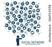 social network | Shutterstock .eps vector #266914358
