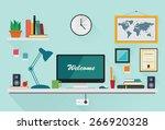 flat design vector illustration ... | Shutterstock .eps vector #266920328