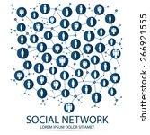 social network   Shutterstock .eps vector #266921555