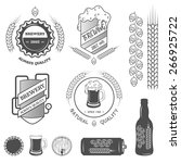 brewing emblems  labels and... | Shutterstock .eps vector #266925722