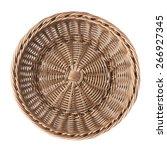 empty fruit wicker brown basket ... | Shutterstock . vector #266927345