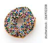 Chocolate Donut Isolated On...