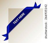original blue corner ribbon  ... | Shutterstock .eps vector #266935142