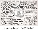 hand drawn sketch hand drawn... | Shutterstock .eps vector #266936162