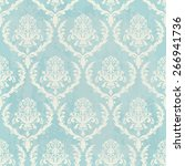 blue vintage wallpaper with... | Shutterstock .eps vector #266941736