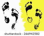 painted texture black foot... | Shutterstock .eps vector #266942582