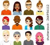collection of twelve different... | Shutterstock .eps vector #266956112