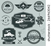 military set label template of... | Shutterstock .eps vector #266963042