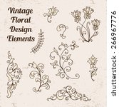 set of vector floral elements... | Shutterstock .eps vector #266967776