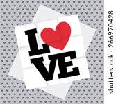 love card design  vector... | Shutterstock .eps vector #266970428