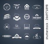 set of vector bakery logos.... | Shutterstock .eps vector #266971898