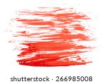 red paint isolated on white... | Shutterstock . vector #266985008