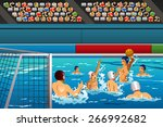 a vector illustration of water... | Shutterstock .eps vector #266992682
