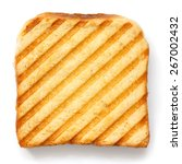 toasted sandwich with grill... | Shutterstock . vector #267002432
