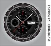 vector watch. vector handwatch. ...   Shutterstock .eps vector #267006935
