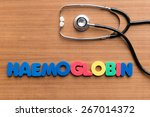 Small photo of haemoglobin colorful word on the wooden background