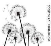 black vector dandelions | Shutterstock .eps vector #267015302