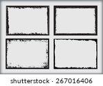 grunge frame.grunge background... | Shutterstock .eps vector #267016406
