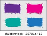 color grunge frame.abstract... | Shutterstock .eps vector #267016412