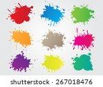 colorful paint splat.paint... | Shutterstock .eps vector #267018476