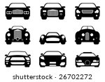 Stock vector luxury retro and sport car collection easy editable 26702272