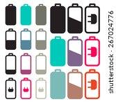 flat design black battery life...