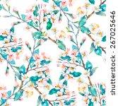 spring pattern.flowering... | Shutterstock .eps vector #267025646