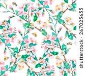 spring pattern.flowering... | Shutterstock .eps vector #267025655