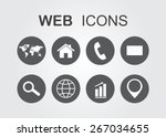 web icons.vector illustration. | Shutterstock .eps vector #267034655