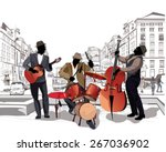 series of the streets with... | Shutterstock .eps vector #267036902