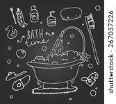 vector illustration of many... | Shutterstock .eps vector #267037226