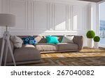 classic interior with  lamp and ... | Shutterstock . vector #267040082