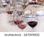 wine tasting  rose wine being... | Shutterstock . vector #267049832