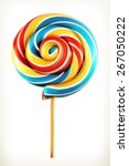 Rainbow Swirl Lollipop  Vector...