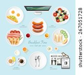 infographic food business... | Shutterstock .eps vector #267051728