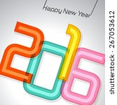 happy new year 2016 ... | Shutterstock .eps vector #267053612
