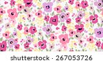 vector seamless flower pattern...
