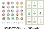 set of colored crystal circles... | Shutterstock .eps vector #267060632