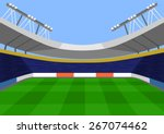 vector football flat... | Shutterstock .eps vector #267074462