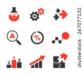 research simple vector icon set ... | Shutterstock .eps vector #267077132
