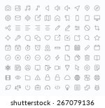 outline vector icons for web... | Shutterstock .eps vector #267079136