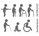 disability people pictograms... | Shutterstock .eps vector #267081425