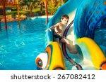 Aqua Park. The Boy Rolled Down...