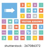colorful arrows icons set....