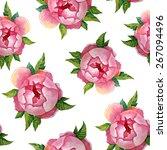 peones watercolor pattern ... | Shutterstock .eps vector #267094496