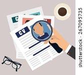 human resources design... | Shutterstock .eps vector #267095735