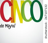 bright typographic fiesta card... | Shutterstock .eps vector #267107132