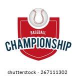 baseball design over white... | Shutterstock .eps vector #267111302
