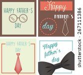 set of vintage backgrounds with ... | Shutterstock .eps vector #267111386