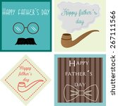 set of vintage backgrounds with ... | Shutterstock .eps vector #267111566
